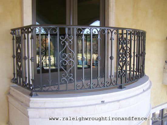 Custom Iron Balcony Fabricator Raleigh Wrought Iron Co