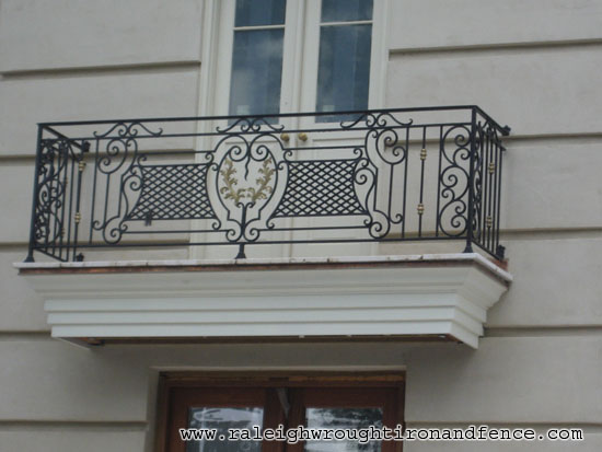 Iron Balconet Raleigh Wrought Iron Co