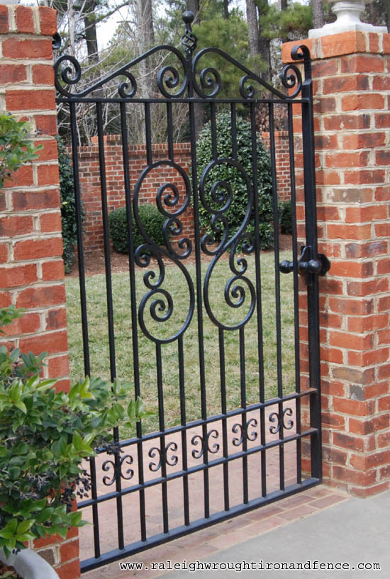 Raleigh Wrought Iron and Fence Co. Custom Wrought Iron Gates in ...