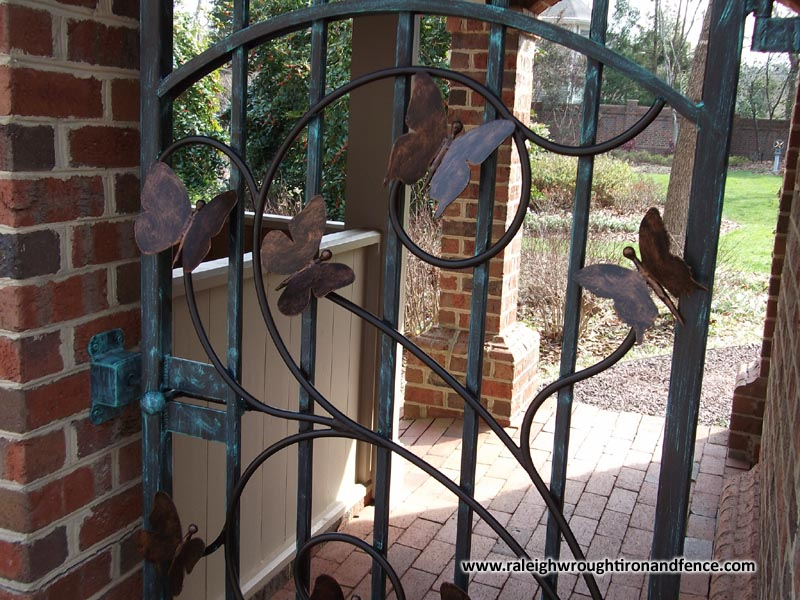 Greensboro Nc Wrought Iron Driveway Gate Fabricator