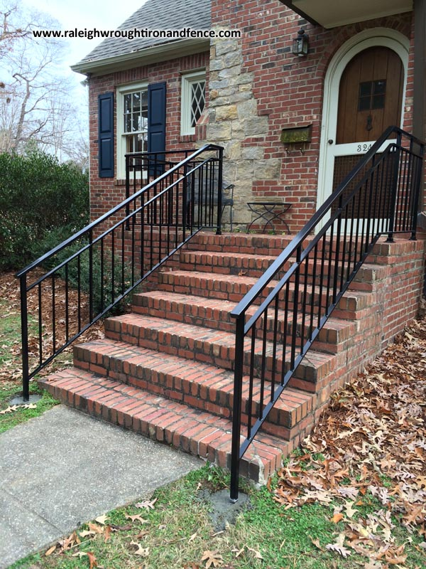Entrance Iron Railings Raleigh Nc